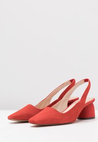 Topshop - JUSTIFY SLING COURT - Classic heels - red - 4
