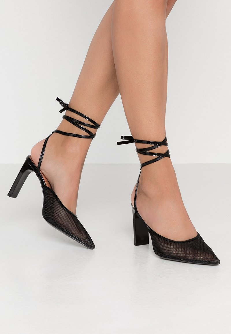 Topshop - GRETA LACEUP - High Heel Pumps - black