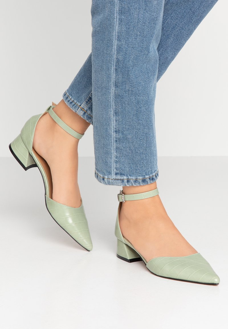 Topshop - ALMOND FLARE - Classic heels - mint