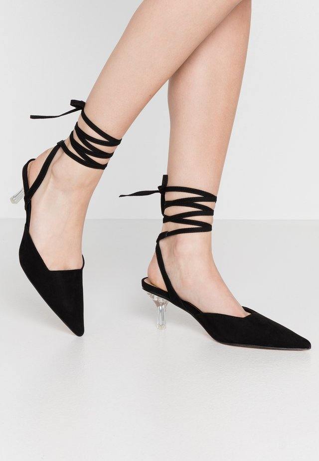 JENNA PERSPEX ANKLE TIE - Lace-up heels - black