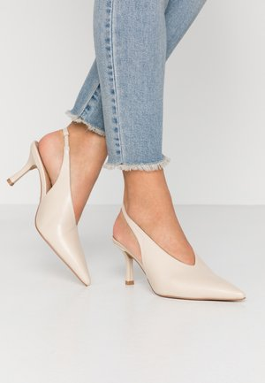 JESSIE POINT SLING BACK - Tacones - offwhite