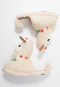 Topshop - LLAMA HOUSE - Slippers - cream - 3