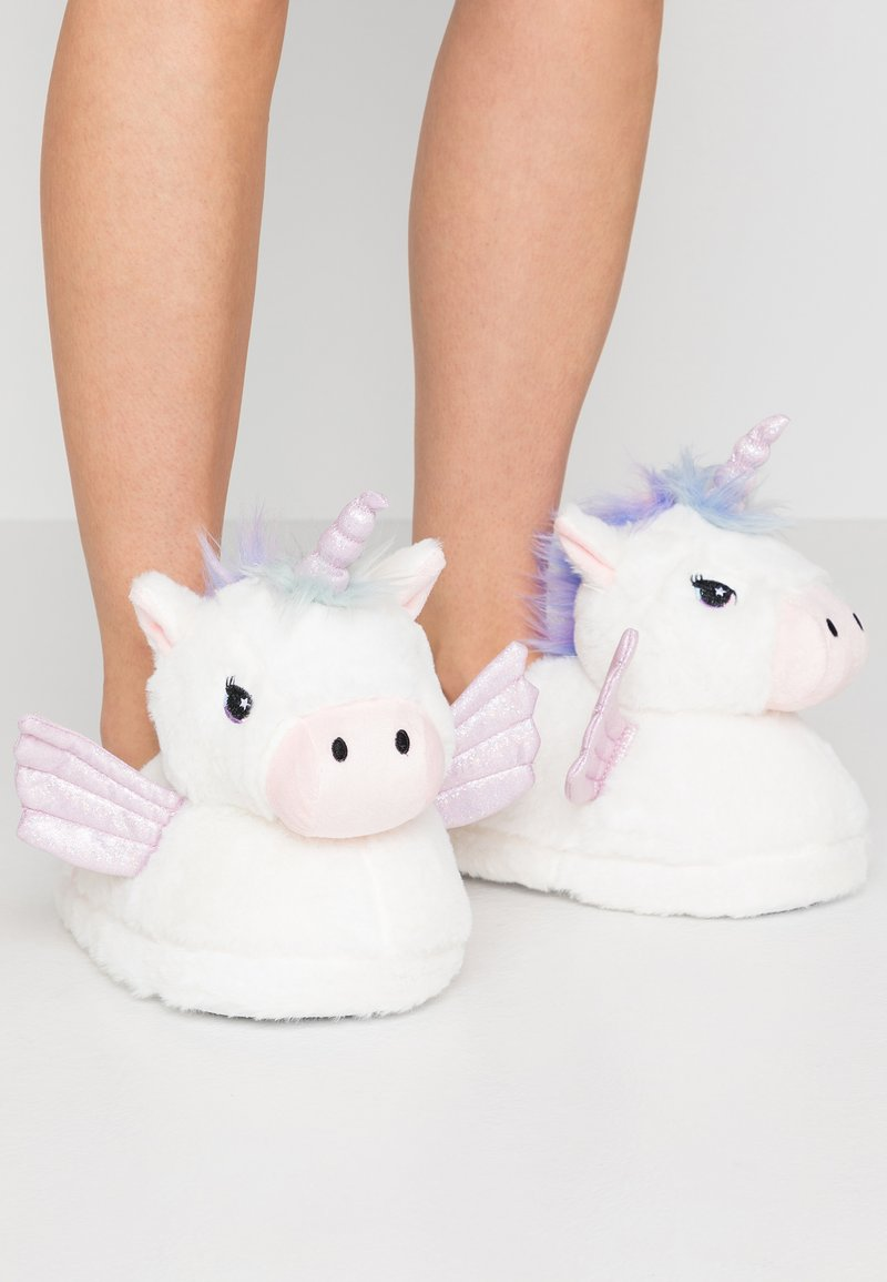 Topshop - UNICORN HOUSE SLIPPERS - Slippers - white
