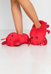 Topshop - LOBSTER HOUSE SLIPPERS - Pantoffels - red - 0