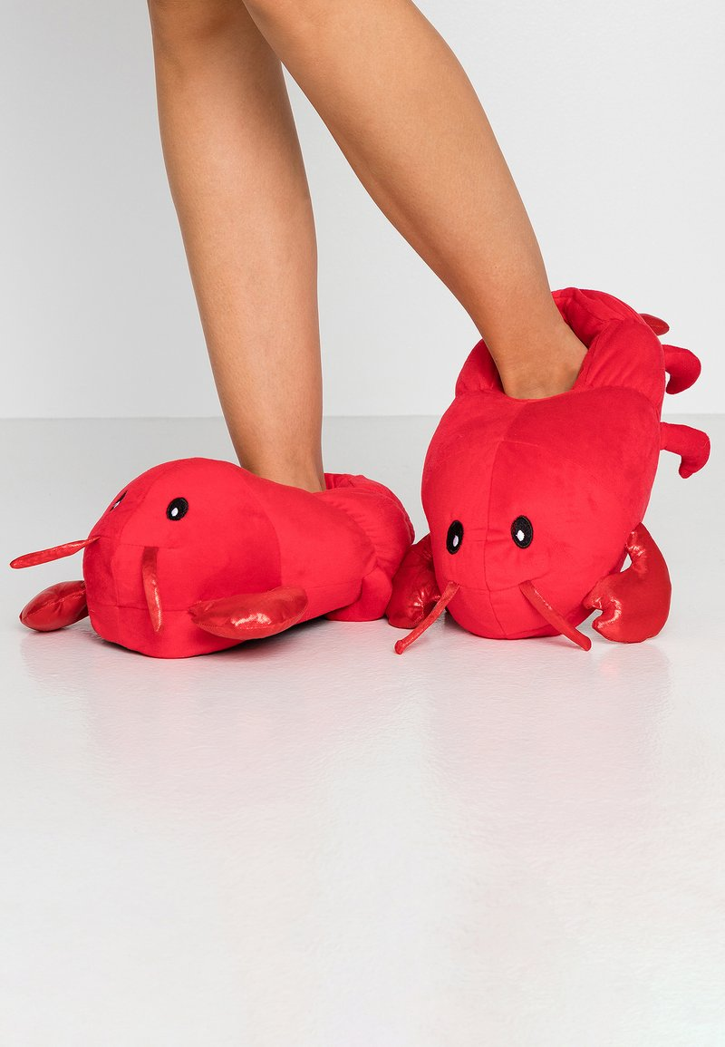 Topshop - LOBSTER HOUSE SLIPPERS - Pantoffels - red