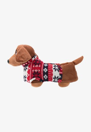 SAUSAGE DOG SLIPPERS - Slippers - brown