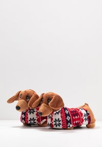 Topshop - SAUSAGE DOG SLIPPERS - Slippers - brown - 4