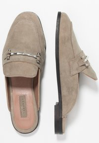 Topshop - KYRA BACKLESS LOAFER - Mules - grey - 3