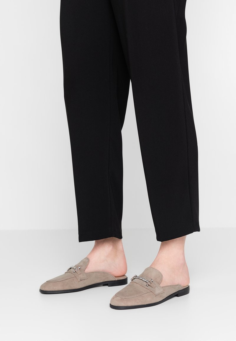 Topshop - KYRA BACKLESS LOAFER - Mules - grey