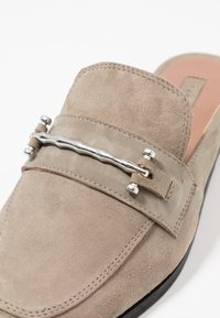Topshop - KYRA BACKLESS LOAFER - Mules - grey - 2