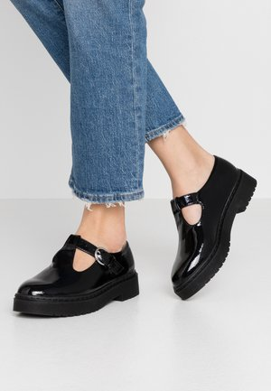 ACE CHUNKY MARY JANE - Loaferit/pistokkaat - black