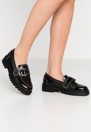 AXEL CHUNKY BUCKLE - Slip-ons - black