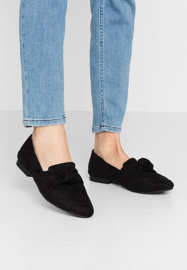 AYLA KNOT LOAFER - Slip-ins - black