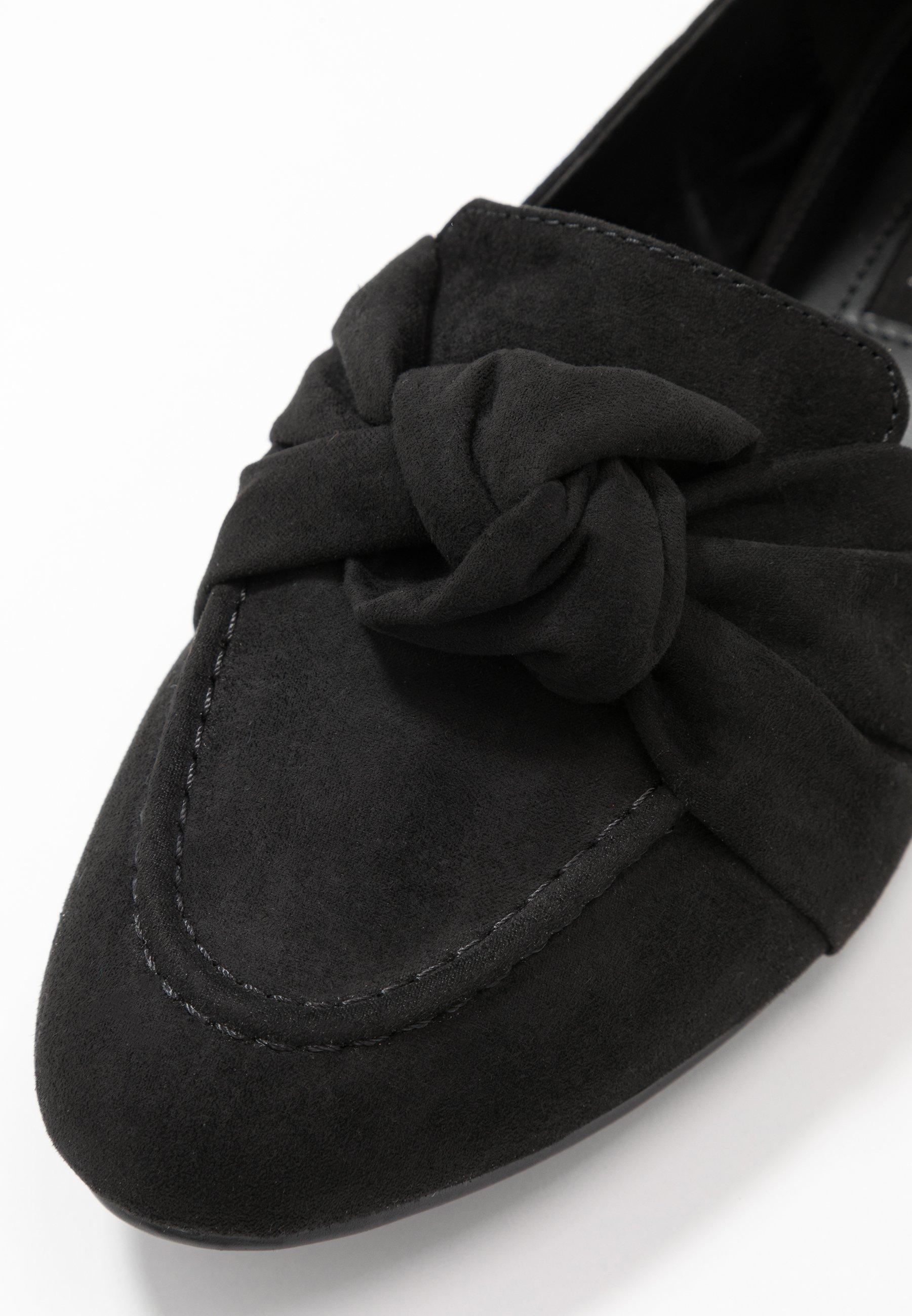 Topshop AYLA KNOT LOAFER - Półbuty wsuwane - black