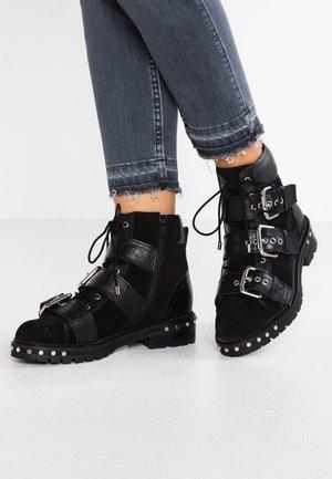 ANIMAL - Cowboy/biker ankle boot - black