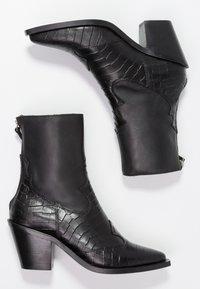 Topshop - MARCEL - Cowboy/biker ankle boot - black - 3