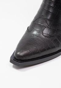 Topshop - MARCEL - Cowboy/biker ankle boot - black - 2