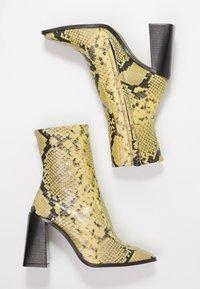 Topshop - HURRICANE BOOT - Enkellaarsjes met hoge hak - yellow - 3