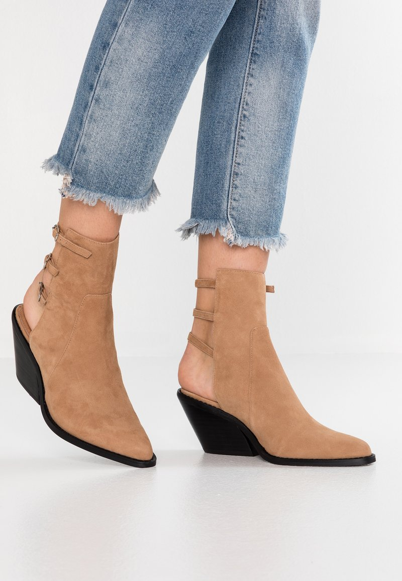 Topshop - MISH SHOE BOOT - Classic ankle boots - sand