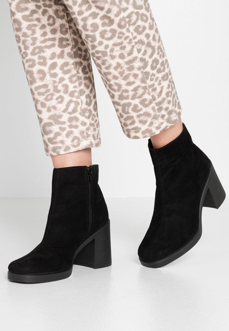 Topshop - BASIL SQUARE - Kotníková obuv - black