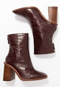 Topshop - HERTFORD BOOT - High heeled ankle boots - burgundy - 3