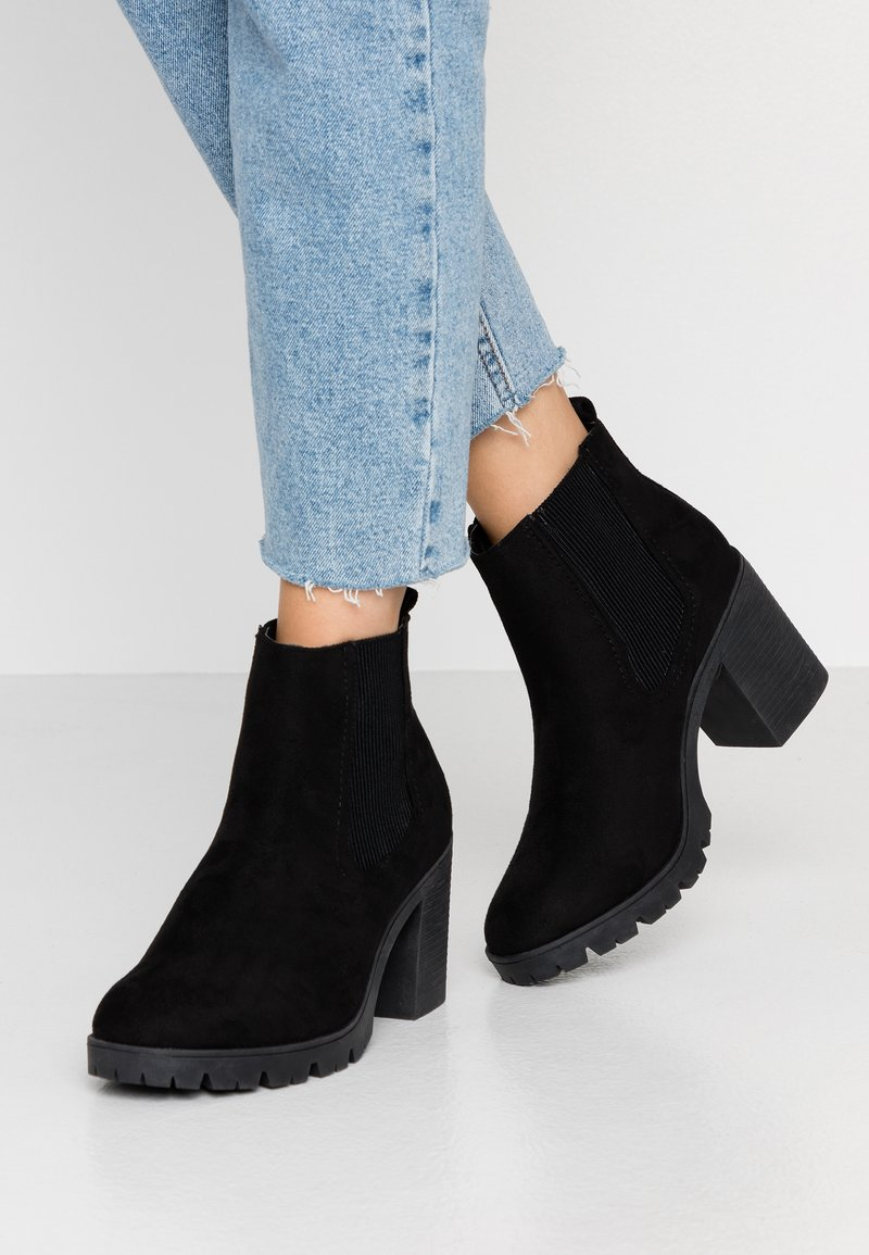 Topshop - BYRON UNIT - High heeled ankle boots - black