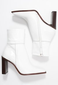 Topshop - HERO BOOT - Bottines à talons hauts - white - 3