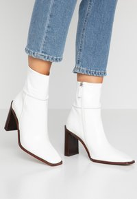 Topshop - HERO BOOT - Bottines à talons hauts - white - 0