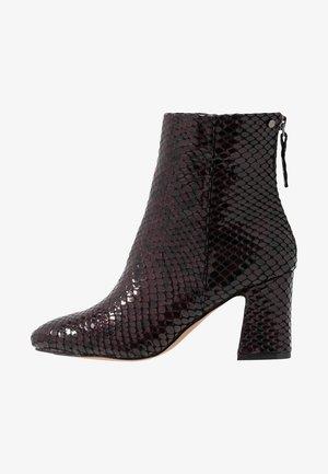 BELIZE SMART BOOT - Kotníkové boty - burgundy