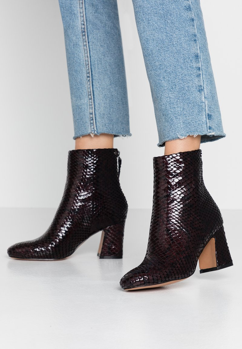 Topshop - BELIZE SMART BOOT - Classic ankle boots - burgundy