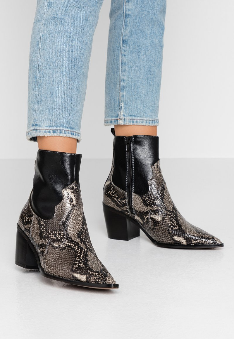 Topshop - BLISS WESTERN BOOT - Classic ankle boots - black