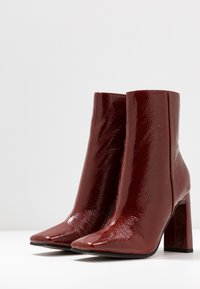 Topshop - HALIA SQUARE TOE - High heeled ankle boots - tan - 4