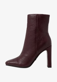 Topshop - HALIA SQUARE TOE - High heeled ankle boots - burgundy - 1