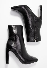 Topshop - HALIA SQUARE TOE - High heeled ankle boots - black - 3