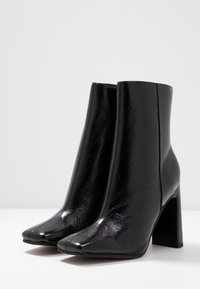 Topshop - HALIA SQUARE TOE - High heeled ankle boots - black - 4