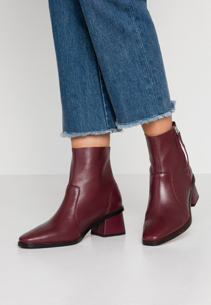 Topshop - MARGOT MID BOOT - Classic ankle boots - burgundy