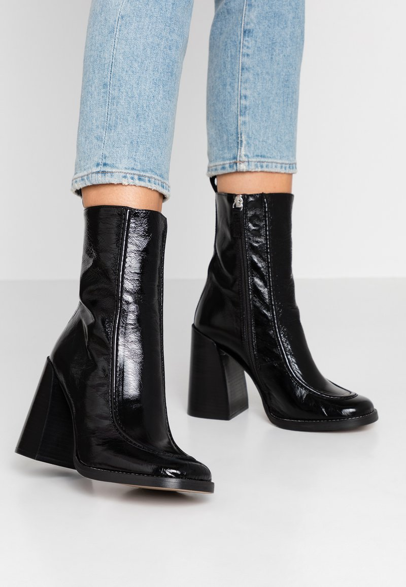 Topshop - HARVEY BOOT - High heeled ankle boots - black