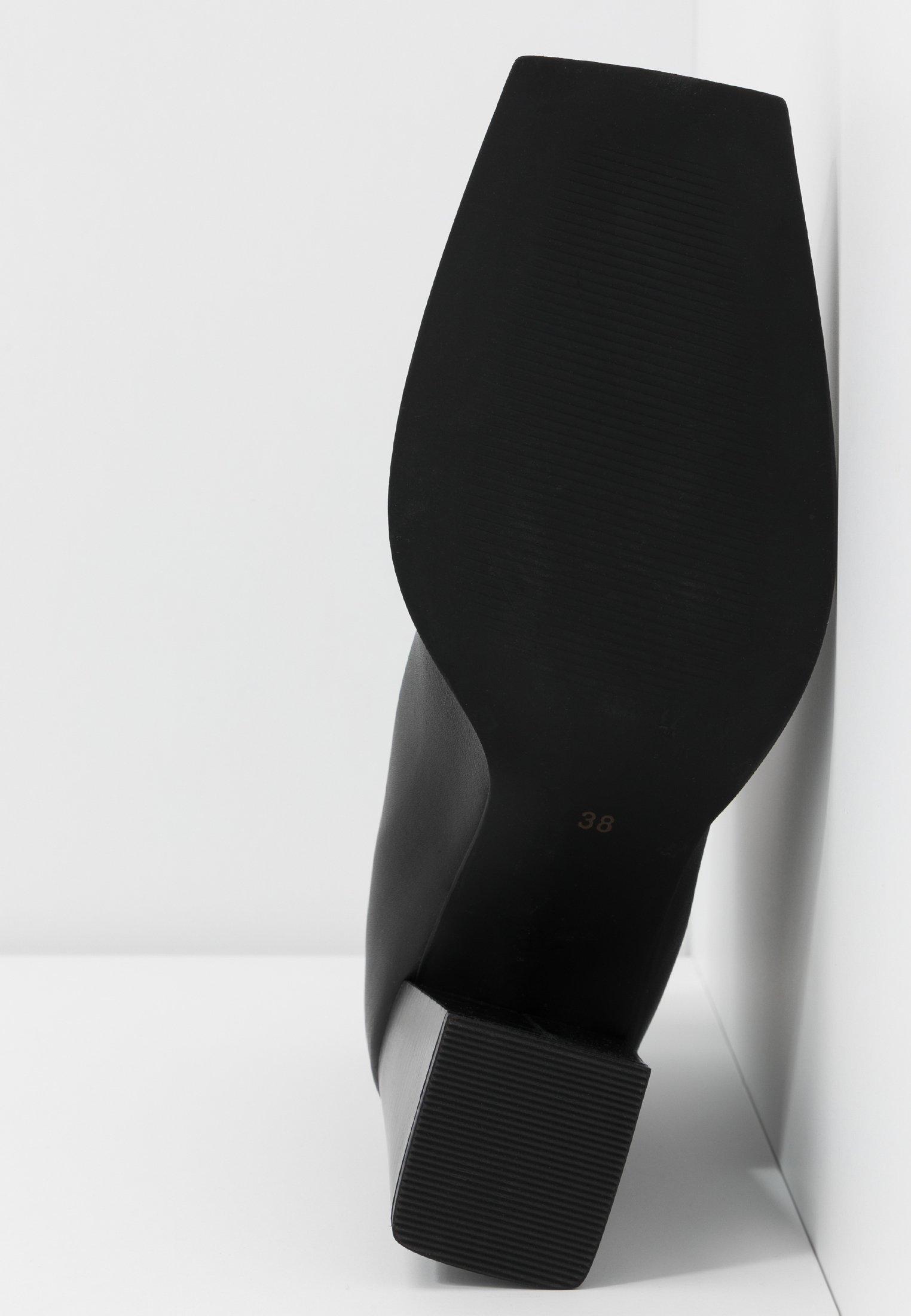 Topshop HEIDI ZIP BOOT - High Heel Stiefelette black