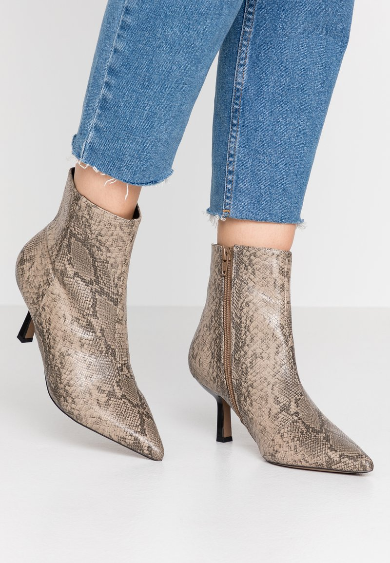 Topshop - MACI POINT BOOT - Ankle boots - nude
