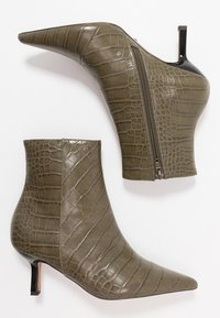 Topshop - MACI POINT BOOT - Ankle boots - khaki - 3