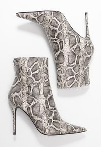 Topshop - EDA POINT BOOT - High heeled ankle boots - grey - 3