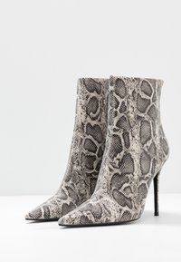 Topshop - EDA POINT BOOT - High heeled ankle boots - grey - 4