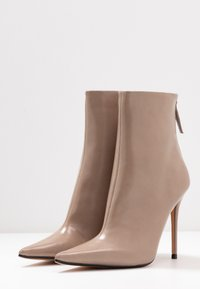 Topshop - EDA POINT BOOT - High heeled ankle boots - taupe/beige - 4