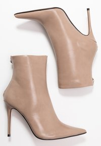 Topshop - EDA POINT BOOT - High heeled ankle boots - taupe/beige - 3