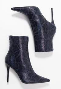 Topshop - EDA POINT BOOT - High heeled ankle boots - navy - 3