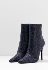 Topshop - EDA POINT BOOT - High heeled ankle boots - navy - 4