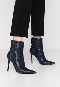 Topshop - EDA POINT BOOT - High heeled ankle boots - navy - 0
