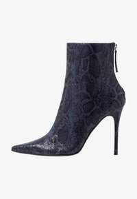 Topshop - EDA POINT BOOT - High heeled ankle boots - navy - 1