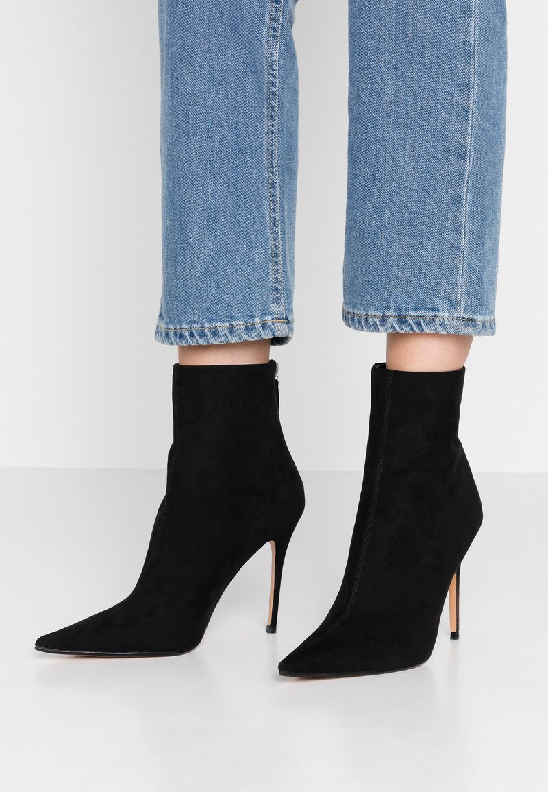 Topshop - EDA POINT BOOT - High heeled ankle boots - black