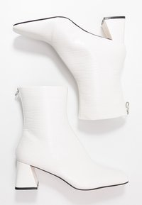 Topshop - BREEZE SQUARE TOE  - Classic ankle boots - white - 3